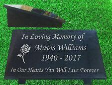 granite memorial plaque grave marker