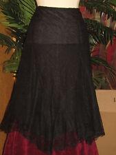 RALPH LAUREN NWT $159 black lace women's mid-calf skirt sexy