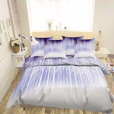 3D Äste Weiß 69 Bett Kissenbezüge steppen Duvet Decken Set Single DE Carly