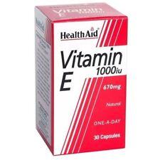Health Aid Vitamina E 1000iu 670mg   Naturales   30 cápsulas 1 paquetes de 2 3 6 12