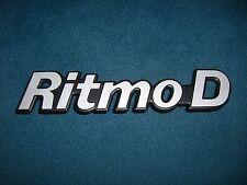 Emblem / Badge Heckklappe Fiat Ritmo Diesel D Metall