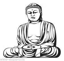 Sticker Zen Bouddha méditation, XXL, Géant 40x42 cm à 60x62 cm (ZEN002)