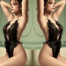 Ladies Sexy Lingerie Lace Floral Dress Women Bandage Corset Underwear Sleepwear
