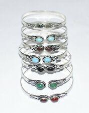Turquoise & Mix Gemstone 925 Sterling silver overlay Bracelet Bulk Lot 7- 70 PCs