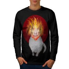 Hell Satan Animal Cat Men Long Sleeve T-shirt NEW | Wellcoda