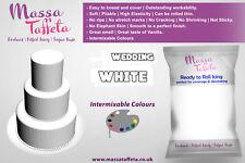 Massa Taffeta Fondant Sugar paste Ready to Rolled Icing Cake Craft Wedding White