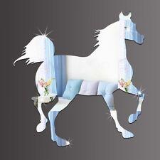 Pferd Spiegel Deko Galopp Trab Hengst Goldspiegel Kunststoff PS mit Klebepunkt