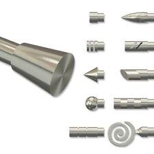 Endstücke für Gardinenstangen 20 mm Ø, Konus (2 Stück) in Edelstahl Optik