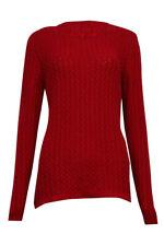 Karen Scott Women's Elegant Textured Cable Knit Sweater