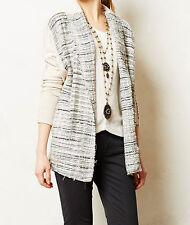 Dolan Twinkled Tweed Cardigan Sweater Size Large Beige NW ANTHROPOLOGIE Tag