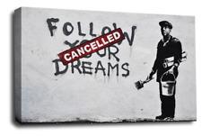 Banksy LONA pared arte Foto varios globos esperanza paz Maid espías ratas