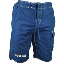 Las Vegas NV Sin City of Lights Navy Swim Board Shorts Elastic Waist Pool Mens