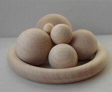 Holzkugeln, Holzperlen 30 mm Ø, ohne Bohrung, Buche unlackiert