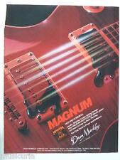 retro magazine advert 1982 DEAN MARKLEY magnum
