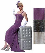 Women's Club Burlesque Glittery Evening Gown Costume Fancy Dress Lounge Singer