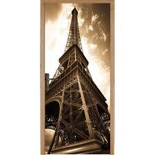 Papier peint porte Tour Eiffel sépia 056