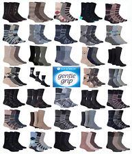 12 Pairs Men Gentle Cotton Soft Grip Socks Non Elastic Soft Top Diabetic 6-11