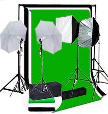 Studio 4 lights rapid softbox umbrella lighting kit 1400 W backdrop Support kit