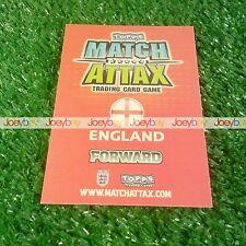2010 Copa del Mundo Inglaterra hombre del partido tarjeta de jugador estrella 10 Match Attax