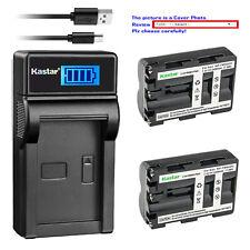 Kastar NP-FM500H Battery Charger Sony Alpha a99 II DSLR-A100 A100H DSLR-A100K