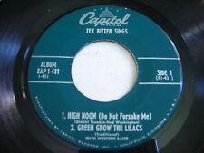 Tex Ritter Sings 1953 45rpm EP VG+