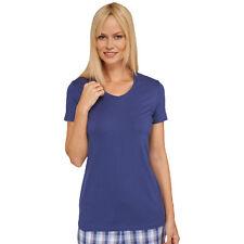Schiesser Femmes Mix & Relax Shirt à Manches Longues T-Shirt Col en V 34-50