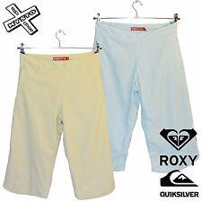 QUIKSILVER ROXY 'selva JOE' Pantalones Cortos Capri Pantalones Reino Unido 8 10 12 14 3/4 RRP £ 50