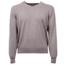 D6274 maglione uomo CRUCIANI tortora cashmere sweater man