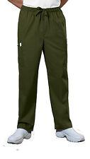 Olive Cherokee Workwear Core Men 's Drawstring Cargo Scrub Pants 4243 OLVW