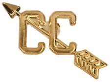 Gold Finish Metal Cross Country Pin TIE TACK School Varsity Insignia Team Sports