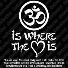Om Spiritual Namaste Yoga Pants Vinyl Decal Sticker Meditation Hatha Hindu Aum