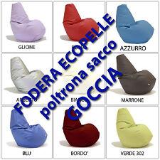 unmondocomodo.it: Poltrona sacco GOCCIA - Fodera esterna in ECO-PELLE