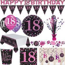 18. Geburtstag Party Deko Artikel Pink Schwarz Lila Dekoration Feier Volljährig