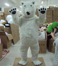 Polar Bear Costume Mascot Suit Cosplay Dress Adult Men Women Halloween Gift New