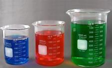 Corning Pyrex Beaker Set: 400ml, 600ml, 1000ml Made in Germany