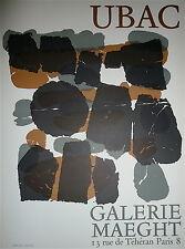 Raoul Ubac Affiche Originale Lithographie Art Abstrait Galerie Maeght