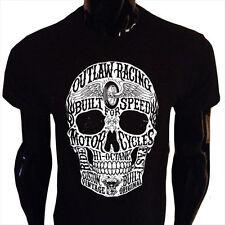Hi-Octane Calavera Camiseta para hombre S-5XL Biker Rider Outlaw Racing Vintage Velocidad HO1