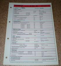 Inspektionsblatt Honda Accord 1.8 / 2D Modelljahr 1984!