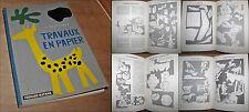 Palestrant Travaux en Papier Fernand Nathan 1956 Jouets Animaux Maquettes Jeux