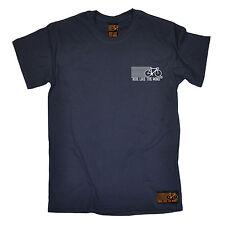 Paseo como el viento Pecho Logo T-Shirt Ciclo Ciclismo Divertido Cumpleaños Regalo de Moda