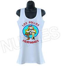 Los Pollos Hermanos Breaking Bad Inspirado Dama Camiseta sin mangas Chaleco Tallas S-XXL