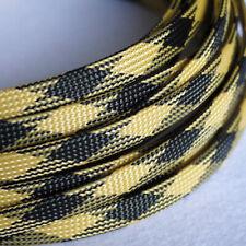 Ø3~16mm Schwarz-Gelb PET Geflechtschlauch Gewebeschlauch Kabelschlauch  Sleeve