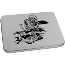 """espeluznante Steampunk personas Tin o almacenamiento caja con bisagras de metal (vTT0016172)"