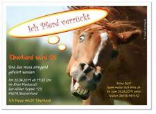 Einladungen zum Geburtstag mit Pferd witzig für Kinder Mädchen 60 70 Text selber