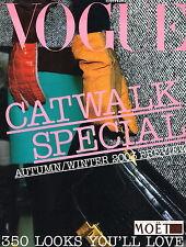 VOGUE CATWALK SPECIAL A/W 2003 PREVIEW Amber Valletta STELLA TENNANT Carmen Kass