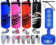 1X Fre Standing 2FT Punching Bag MMA Training kick Boxing Gloves Kids/Junior Set