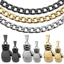 Halskette Gliederkette Panzerkette Mit Anhänger Boxhandschuh Boxen Sport Faust