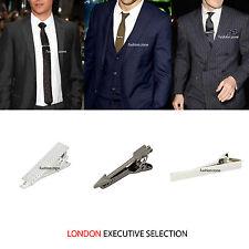 MENS TIE CLIP Silver Gold Gun Grey Metal 2cm 4cm 5.5cm Wedding  Skinny Tie Pin