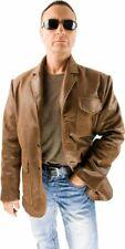40er Heritage Lederjacke braun Rockabilly Antik Sakko Jacke Anilin Leder NEU