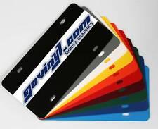 "(5) Blank Plastic License Plate  6"" x 12"""
